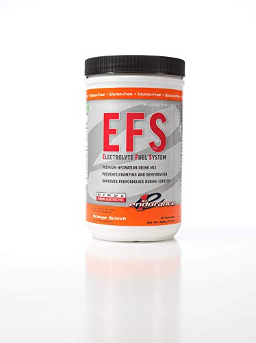 Heed Sport Hammer Drink (First Endurance EFS (Electrolyte Fuel System) - Sports Drink Mix | Maximize Hydration & Performance | Gluten Free | Orange Splash - 25 Servings (800g, 1.8 lb))