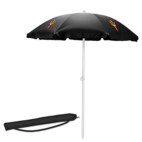 Ncaa Patio Cooler (NCAA Arizona State University Sun Devils Digital Print Umbrella, Black, One Size)