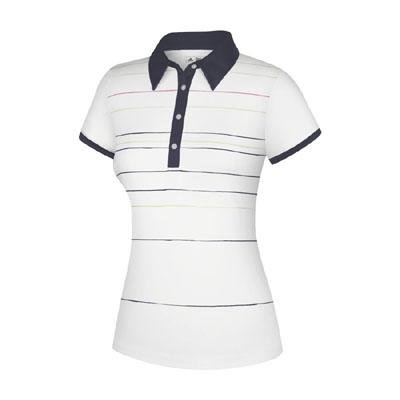 58f7bec3a065fc Adidas Taylormade Womens Climalite Painted Stripe Print Polo Shirt (XS (0)