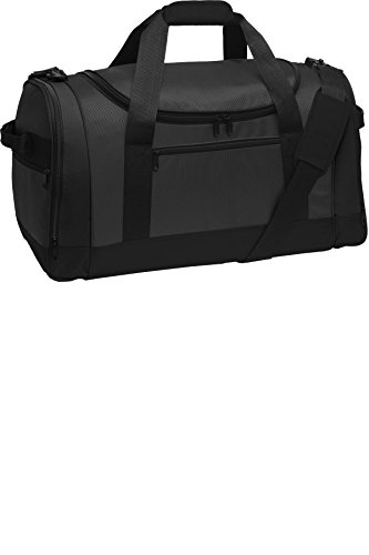 port-authority-luggage-and-bags-voyager-sports-duffel-osfa-dark-grey-black