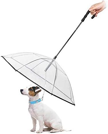 PETEMOO ペット用傘 ペット用品 レイングッズ アンブレラ 犬用傘 雨具 透明雨の日に散歩 リード接続 チェーンイ付き 超撥水 風邪防止 猫用 小型犬 中型犬