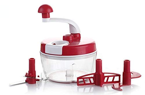 Manual Food Processor Atta/Dough Maker,Vegetable Cutter,Churner/Beater with Dual Speed by Ganesh