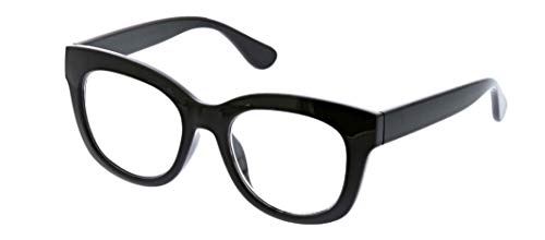 Peepers Women's Blue Light Filtering Center Stage Readers in Black, +1.00