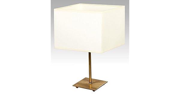 Bauhaus - Lámpara de mesa (latón, color blanco, 33 cm de ...