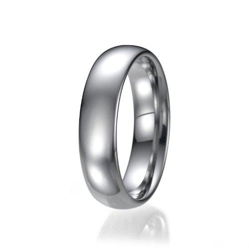 6 mm para hombre comfort fit tungsteno clara de matrimonio anillo