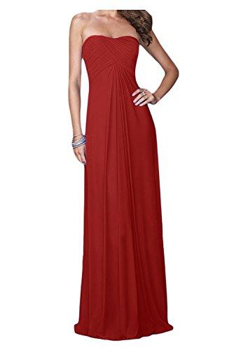 mujer para Vestido Rojo trapecio Topkleider zq8xw4w