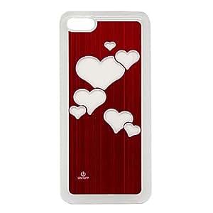 DD New Sense Love Flash Light LED Color Changing Brushed Metal Hard Case for iPhone 5C (Assorted Colors) , Rose