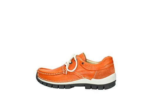 Scarpe 4700 leather donna 755 Grigio orange stringate Jump Wolky xpwFw