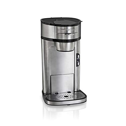 Hamilton Beach The Scoop Single Serve Coffee Maker, Fast Brewing, Stainless Steel (49981A), ()