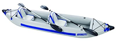 Sea Eagle Fast Track 2-Person Inflatable Kayak Deluxe Package (385-Feet 12-Feet 6-Inch)