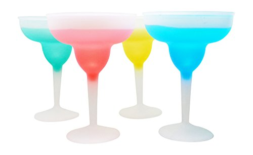 Frosty Frozen Margarita Glasses – Set of Four in Tropical Colors by Nantucket Home