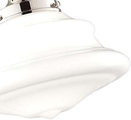 Hudson Valley Lighting 3412F-PN One Light Semi Flush Mount from The Petersburg Collection, 13 , Polished Nickel