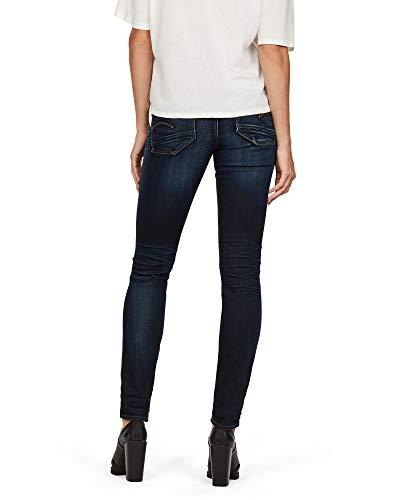 Jeans Raw G medium Lynn 071 star Waist Blu Skinny Aged Mid Donna WwqqTYAZgc
