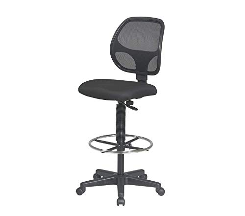 Premium Deluxe Mesh Back Drafting Chair with 18.5