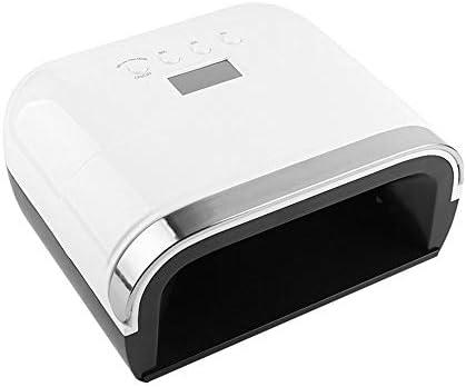 ネイルドライヤー ゲル/ CNDシェラックネイルランプ用78W LED UVネイルランプデュアルモードネイルドライヤー マニキュアの時間を楽しむ (Color : White, Size : EU)