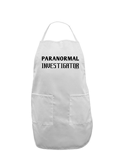 TooLoud Paranormal Investigator Adult Apron - White - One-Size by TooLoud