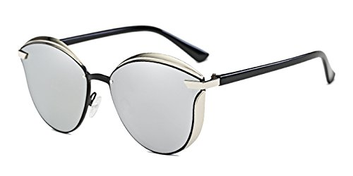 Slocyclub Ladies Chic Polarized Metal Flat Mirrored - Online Cooling Shopping Glasses