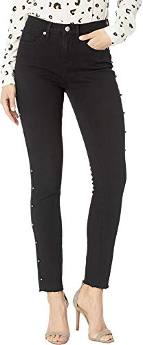 Zip Juicy Couture (Juicy Couture Women's Studded Denim Skinny Jeans Cement Wash 31 28)