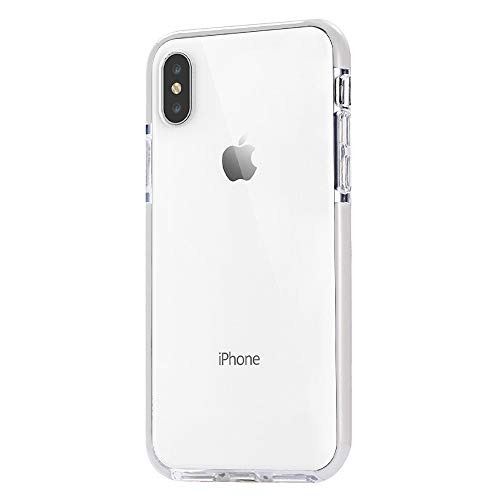 JAHOLAN Clear Case Flexible TPU Hybrid Shockproof Anti-Scratch Slim Thin Bumper Phone Case for iPhone Xs Max 2018 (6.5 inches) - White