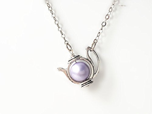 party necklace teapot pearl alice product image