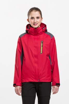 SHR-GCHAO Outdoor Sports Jacke Abnehmbare Liner Plus Velvet windundurchlässige wasserdichte Breathable Wandern Reiten Ski Female Jacke,Rot,S160~165CM