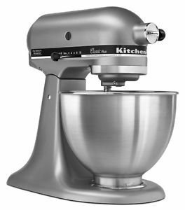 New Made In USA Kitchenaid Classic Plus Ksm75sl 10 Speed Stand Mixer   Silver Good