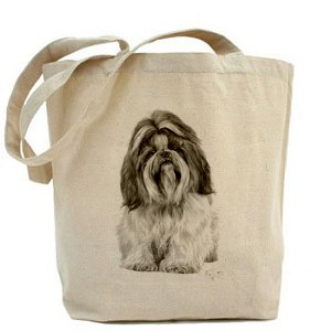 Tzu Sibley Shih Tote Natural Shopper Bag CANVAS Cotton Dog Mike gE6SWqE
