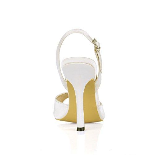 Casan Las Pescado Se Sandalias Alto heel Mujeres El Shoes Zapatos Crema Punta Mujer Opal De Cenar 1Ep1qrxwn