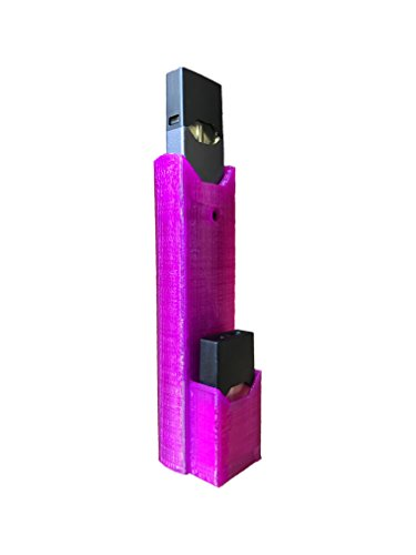 eSleeve - Flexible Rubber JUUL Case - Hold an Extra JUUL Pod - Easy Charging from bottom (Transparent Purple eSleeve)