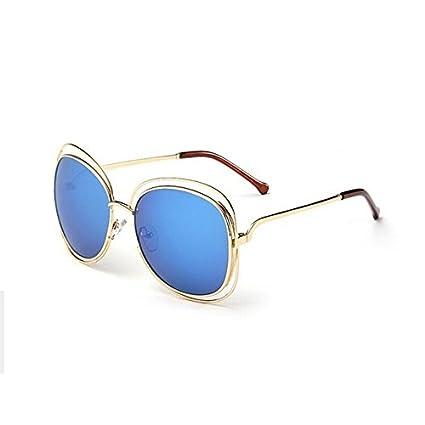 8e5dafae56 tocoss (TM) gafas de sol mujeres Oval Fashion Vintage marca funda hembra Retro  gafas