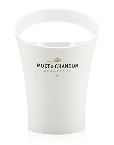 Moet Rose Champagne (Moet & Chandon Ice Imperial Dom Perignon Champagne White Acrylic Cooler Ice Bucket)