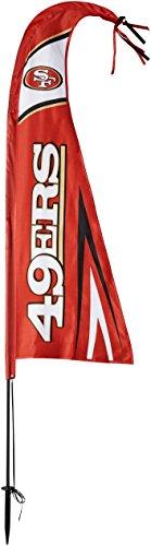 Indians Tall Team Flag - Fremont Die NFL San Francisco 49Ers Unisex NFL Feather Flag, Multi, 44-Inch