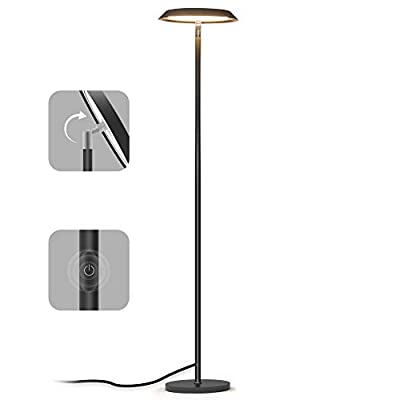 Floor Lamp, LED Floor Light, TECKIN Reading Standing Lamp Dimmable for Living Room Bedroom, High Lumens,Touch Control Floor Light,