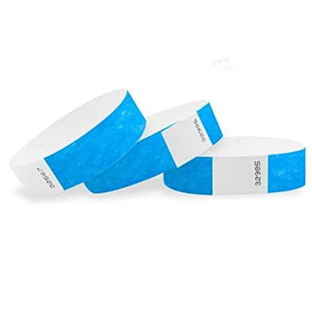 Set di braccialetti carta Tyvek 19 mm per eventi, Festival –  indé chirable e personalizzabile –  12 colori disponibili 500 bianco Extiff France