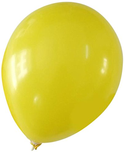 Homeford Premium Latex Balloons Plain Color, 12-Inch, Yellow, - Yellow 12 Latex Balloons Inch