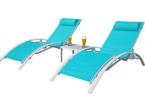 Amazon.com : Lounge Chairs for Pool Area-Tanning Chairs for Outside ...