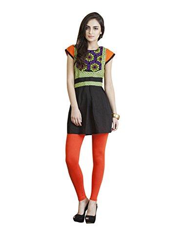Yepme Angelica Kurti Set – Black & Green — YPMSKD0025_XS