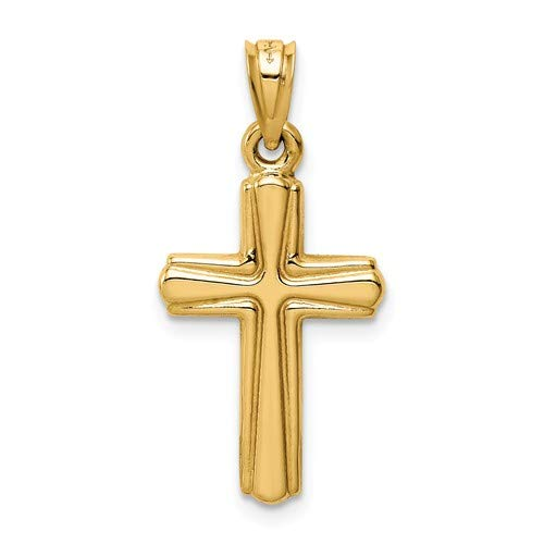 14K Yellow Gold Reversible Crucifix//Cross Pendant from Roy Rose Jewelry