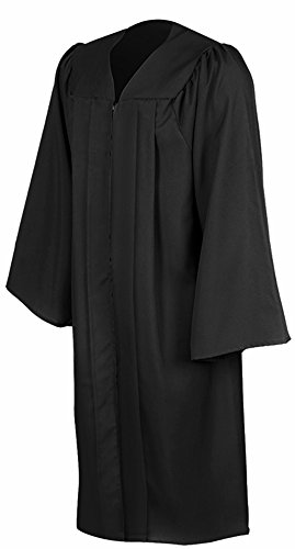 Leishungao Adult Black Choir Robe Matte Finish for Choir Clergy ReligiousWearing Height - Gown Choir