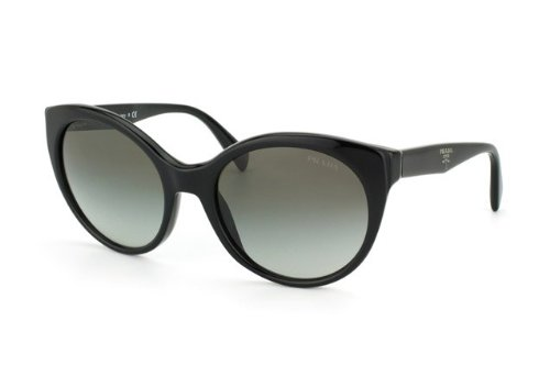 Prada Womens Sunglasses (PR 23O) Black/Grey Acetate - Non-Polarized - - Hut Prada Sunglass