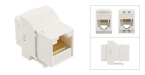 Unshielded In Line Coupler (CAT 6 Unshielded Inline Coupler, Keystone Style to Fit Wall Plate or Patch Panel; White)