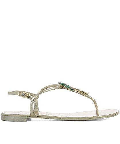 en femme pour Sandales E800013001 Design dorées Giuseppe cuir Zanotti aqIf88