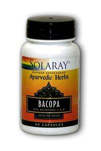 (Solaray - Bacopa Ayurvedic Herbs, 100 mg, 60 capsules)