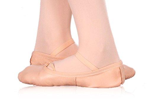 Happy Dance Ballet - Unisex Media-dedos Del Pie, Salmón, Número 32