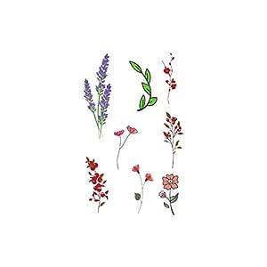 adgkitb 4 Piezas de Flores de Loto Etiqueta engomada del Tatuaje ...