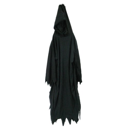 [SeasonsTrading Black Hooded Robe - 56