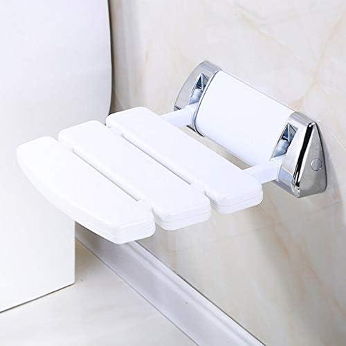 ZJN-JN Wandmontage Badehocker Dusche Bank ändern Schuhe Hocker Anti-Rutsch-Folding Aisle Stuhl Badezimmer WC Dusche Sitzstuhl-Weiß, 33,8 * 34,8 * 10cm Bad Hocker, Badezimmer Bad Rollstühle