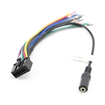 xtenzi car radio wire harness compatible with axxera cd dvd navigation  in-dash - xt91050