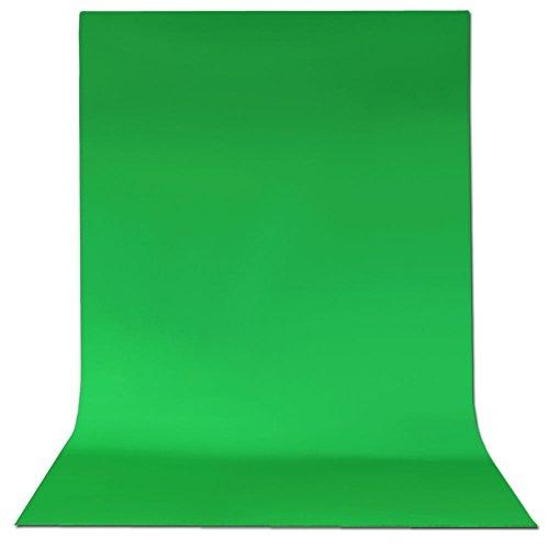 (ePhotoInc 10x12 Photo Video Chromakey Green Muslin Backdrop 100% Photography Photo Video Green Screen G1012)
