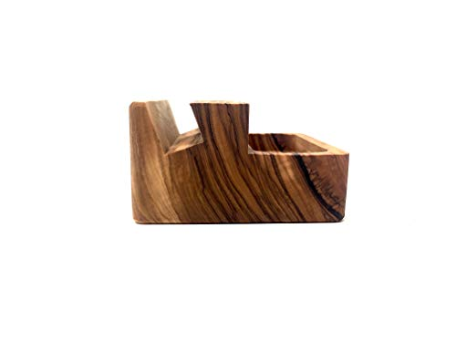 Organizador de mesa de 9x9x5cm hecho de madera de olivo hecho a ...